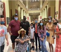 التنسيقية تصطحب السيدة الأمريكية في جولة بالمتحف المصري | صور