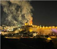 اندلاع حريق في محيط المسجد الأقصى.. فيديو