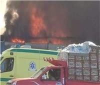 إخماد حريق بحظيرة مواشي في المنيا