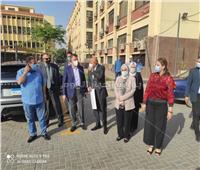 جولة تفقدية لـ«رئيس جامعة عين شمس» بكلية الآداب لمتابعة التجديدات الإنشائية