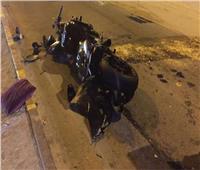 مصرع عامل في حادث تصادم دراجة بخارية بعمود إنارة بالمنيا