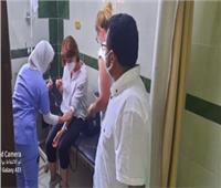 خروج المصابين في حادث ميكروباص طريق «غارب - الزعفرانة»