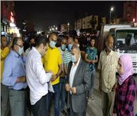 حملات مكثفة بأحياء ومراكز ومدن الإسماعيلية لمتابعة مواعيد الغلق