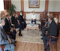 محافظ بورسعيد يستقبل وفدا كنيسا من «الإنجيلية» للتهنئة بعيد الفطر