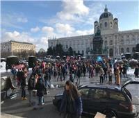 مظاهرة حاشدة في وسط فيينا تضامنا مع الشعب الفلسطيني وتنديدًا بالاحتلال
