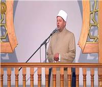 انتهاء صلاة عيد الفطر المبارك وبدء الخطبة بحضور الرئيس السيسي