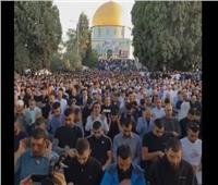 وسط هتافات مناهضة للاحتلال الإسرائيلي.. أجواء صلاة العيد بالقدس |فيديو