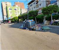 انتشار القمامة في شوارع كفر الدوار أول أيام عيد الفطر