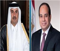 الرئيس السيسي وأمير قطر يتبادلان التهنئة بعيد الفطر