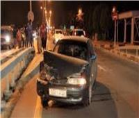 مصرع شخصين في حادث تصادم أسفل دائري الهرم