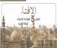 إنفوجراف | «الإفتاء» تعلن 5 قواعد لإحياء ليلة العيد
