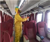 حملة تعقيم واسعة بمحطات السكك الحديدية خلال عيد الفطر| صور