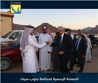 محافظ جنوب سيناء يؤدي واجب العزاء في كبير مشايخ شرم الشيخ