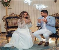 الصور الأولى من خطوبة علي غزلان وملكة جمال مصر