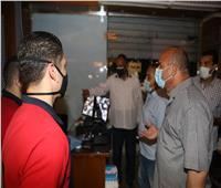 قيادات محافظة بني سويف تتابع تطبيق الإجراءات الإحترازية بالجولات الميدانية