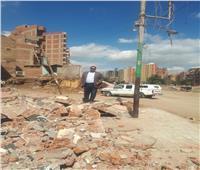 إزالة 5 منازل وورشة بترعة القاصد في طنطا لفتح محور مروري 8 كيلو