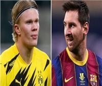 «برشلونة» يفضل «هالاند» على «ميسي»