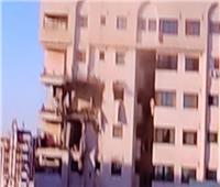 قصف أجزاء من برج سكني مجاور لمبنى التلفزيون الفلسطيني بغزة