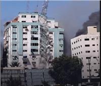 تحذير إسرائيلى بالإخلاء قبل قصف برج «الجلاء» بغزة |فيديو