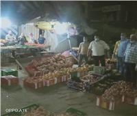 حملة ليلية لإزالة الإشغالات وغلق المحلات التجارية بـ«الباجور»