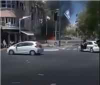 قصف كثيف ورعب في شوارع تل أبيب| فيديو