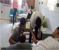 برلمان الشباب بشمال سيناء يقودون حملات تبرع بالدم لصالح جرحى غزة
