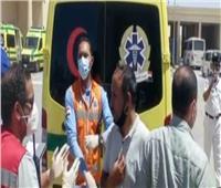 نقل المصابين الفلسطينيين عبر معبر رفح  فيديو