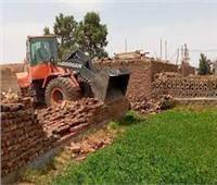 إزالة4 حالات بناء وتعديات على الأرض الزراعية بالمحلة