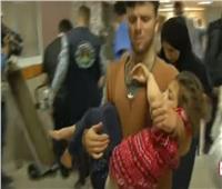 من داخل مجمع الشفاء الطبي.. إصابات لأطفال نتيجة غارات قوات الاحتلال الإسرائيلي