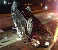 بالأسماء  إصابة 4 أشخاص في حادث سيارة بالمنيا