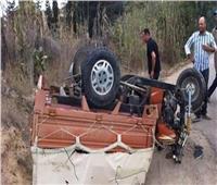 إصابة 7 أشخاص في حادث سير ببني سويف