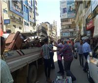 رفع 535 حالة إشغال طريق بمركزي دمنهور وشبراخيت