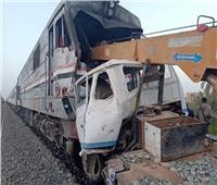 قطار يصطدم بجرار زراعي أثناء عبوره من «موقع مخالف» بالدقهلية