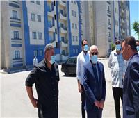 «الغضبان» يتفقد مشروع الـ٤٤ عمارة جنوب بورسعيد