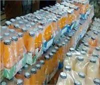 التحفظ على 9 آلاف عبوة عصير غير صالحة للاستهلاك بالغربية