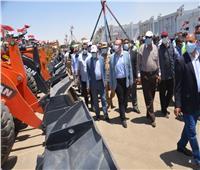 محافظ بني سويف يشهد بروفة اصطفاف المعدات ضمن مشروع صقر «76»