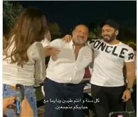 رقصة خالد الصاوي وتامر حسني تشعل مواقع التواصل  فيديو
