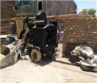 إيقاف أعمال بناء مخالف بمدينة الأقصر والتحفظ على المعدات