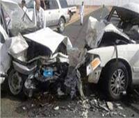 مصرع 3 وإصابة آخر في حادث بطريق الكسارات في السويس