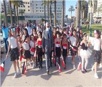 محافظ بورسعيد يستقبل شعلة أولمبياد الطفل