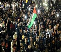مسيرات في الضفة الغربية وقطاع غزة احتفالا بوقف إطلاق النار