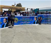 قافلة من المساعدات..«هدية الرئيس للشعب الفلسطيني»| صور