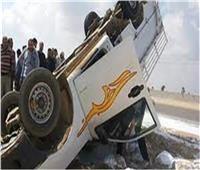 انقلاب سيارة محملة بالقمح بطريق مغاغة في المنيا
