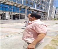 رئيس جامعة دمنهور يتفقد المجمع النظرى ويتابع الأعمال فى كلية الهندسة