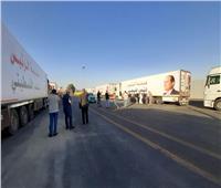 محافظ شمال سيناء يستقبل أكبر قافلة إنسانية مقدمة من مصر لفلسطين| فيديو