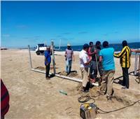 التنمية المحلية تتابع إجراءات فتح الشواطئ بدمياط استعدادًا للصيف