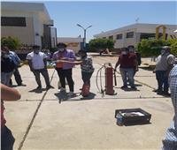 تدريب العاملين بـ«مياه المنوفية» للتعامل مع الحرائق