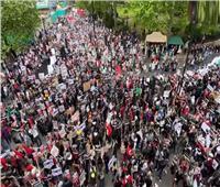 احتشاد الآلاف في وسط لندن تضامنًا مع فلسطين  فيديو