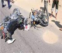 إصابة ٤ أشخاص في تصادم دراجتين ناريتين بالدقهلية