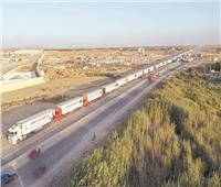 وصول 130 حاوية مساعدات مصرية غذائية ومستلزمات طبية لقطاع غزة